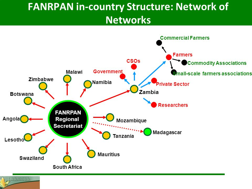 FANRPAN in-country Structure: Network of Networks