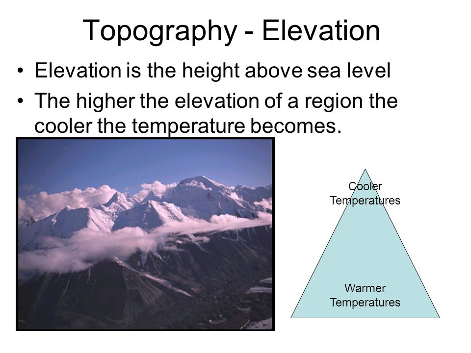 Topography - Elevation