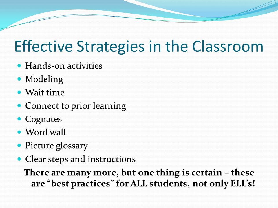 Effective Strategies in the Classroom