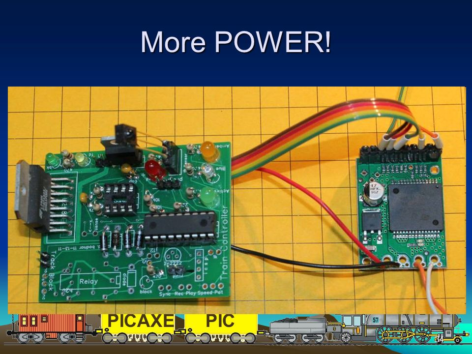 More POWER! The L298N supplies up to 3 amps with a heat sink
