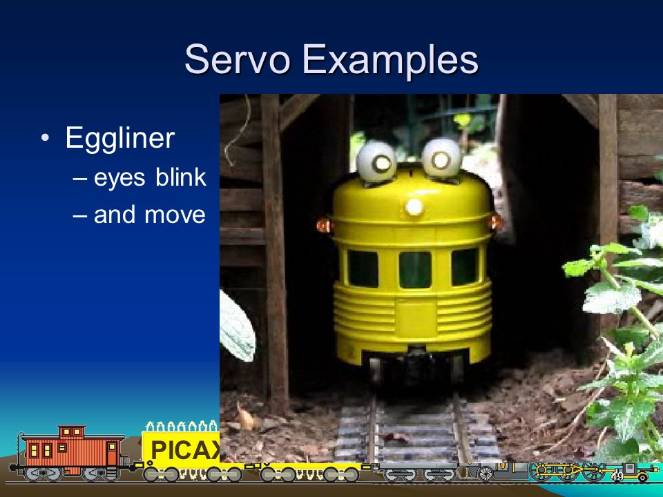 Servo Examples Eggliner eyes blink and move