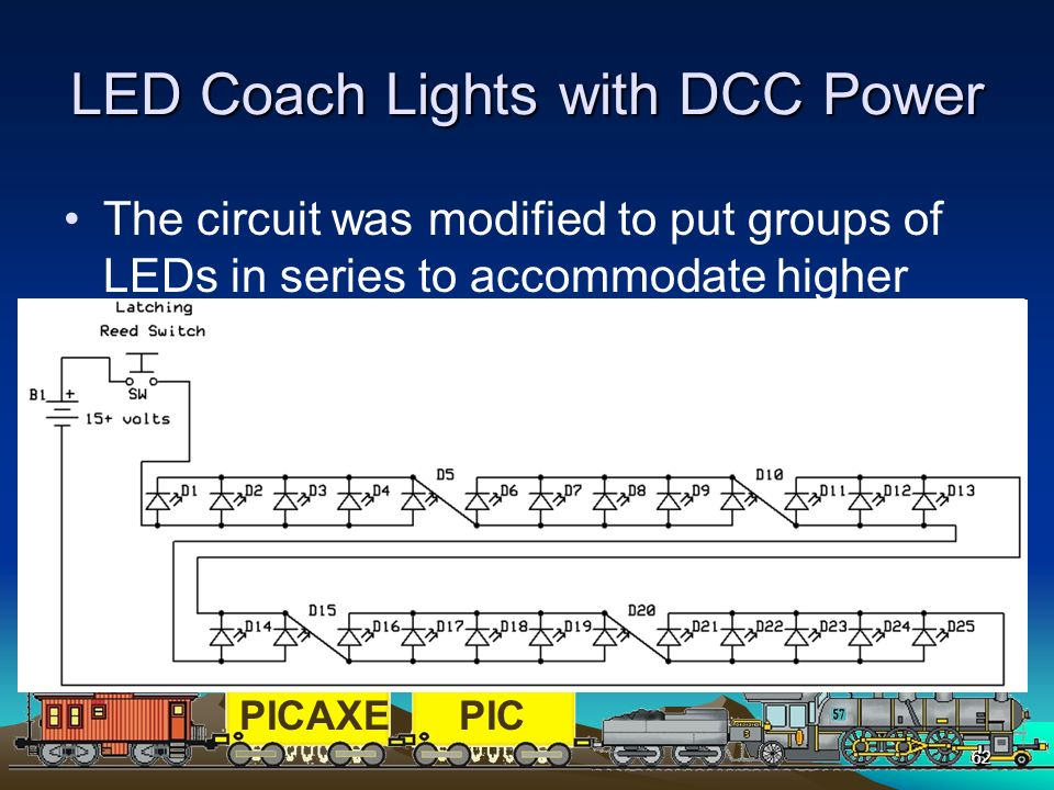 LED Coach Lights with DCC Power