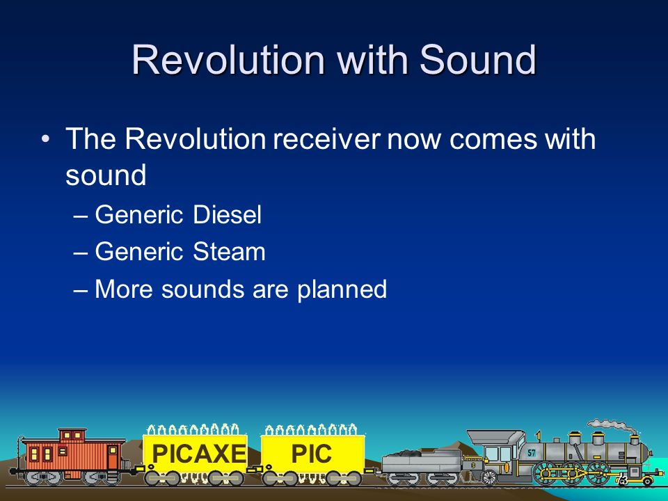 Revolution with Sound The Revolution receiver now comes with sound