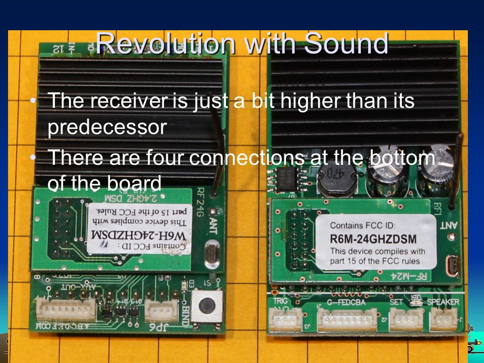 Revolution with Sound The receiver is just a bit higher than its predecessor.