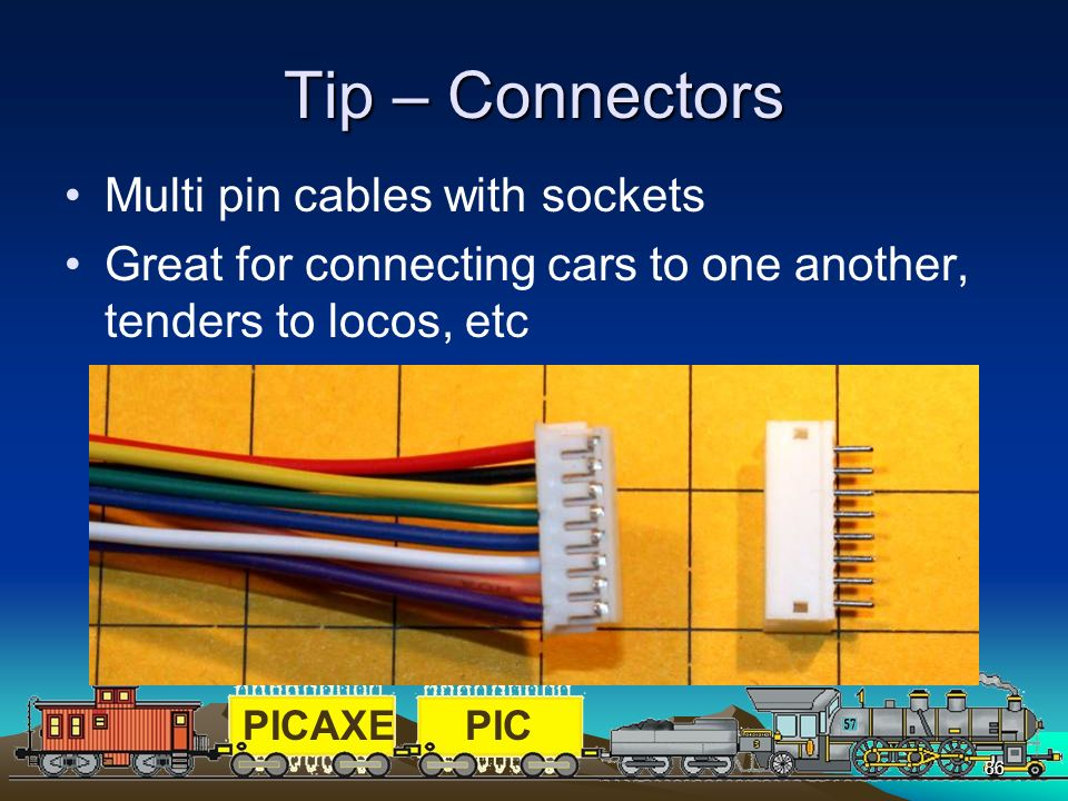 Tip – Connectors Multi pin cables with sockets