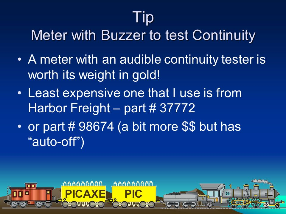 Tip Meter with Buzzer to test Continuity