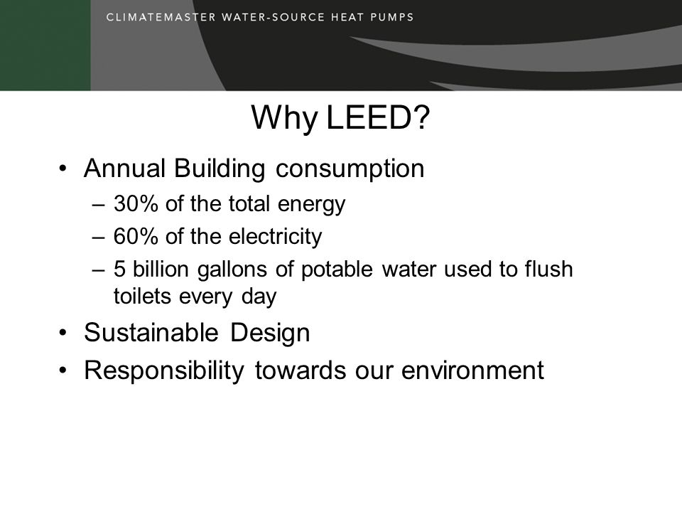 Why LEED Annual Building consumption Sustainable Design