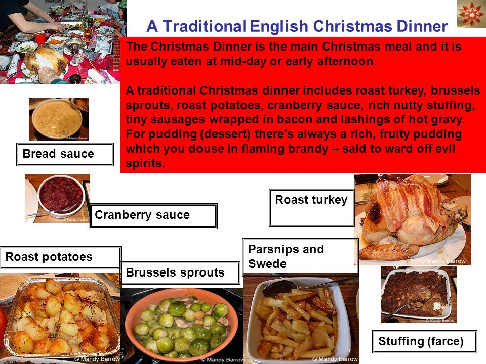 Traditional English Christmas Dinner.Christmas In English Speaking Countries Ppt Video Online