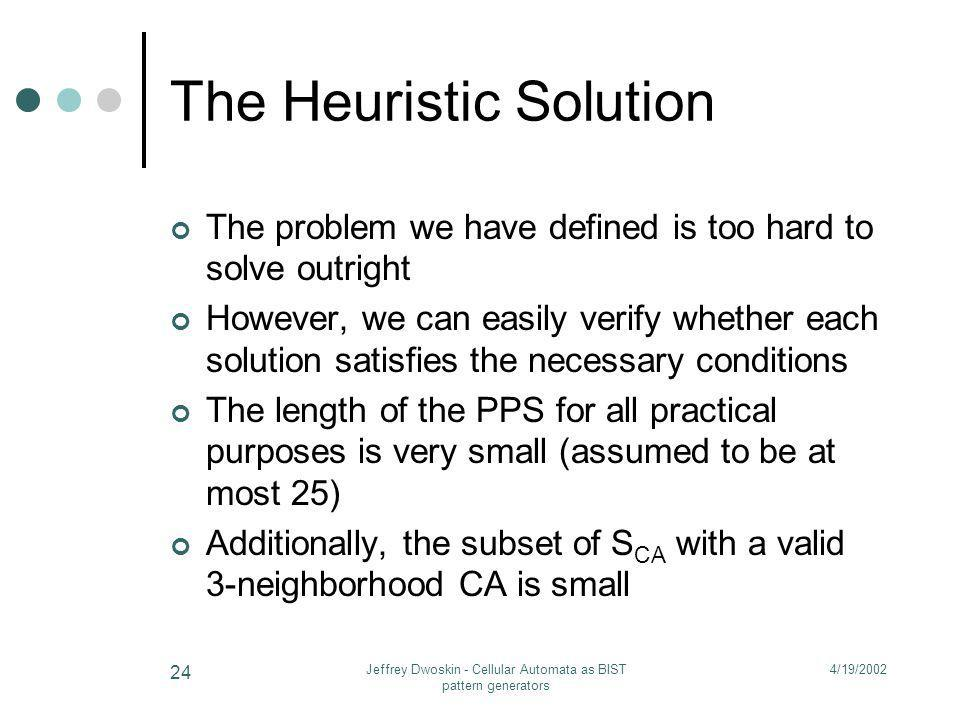 The Heuristic Solution