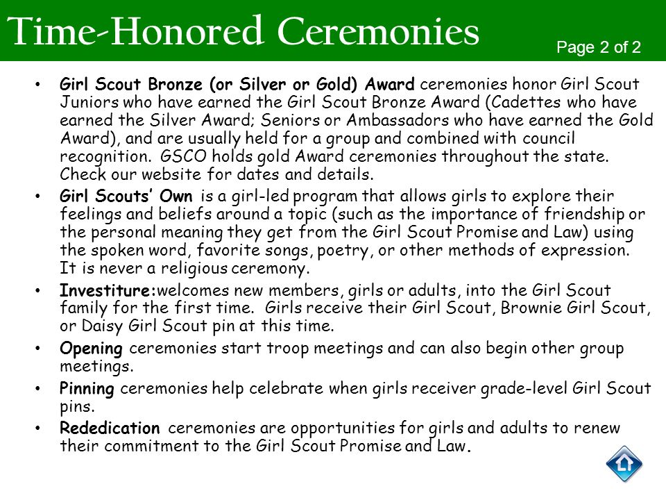 Time-Honored Ceremonies