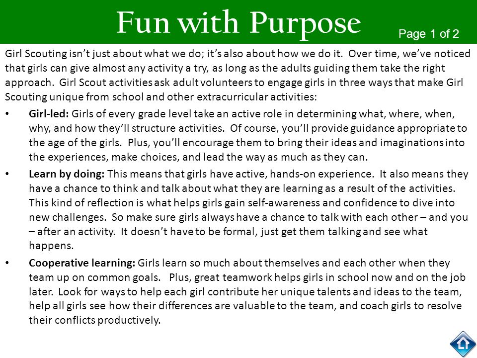 Fun with Purpose Page 1 of 2