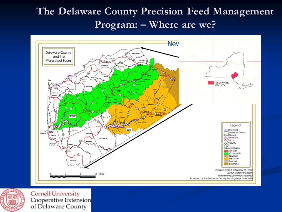 The Delaware County Precision Feed Management Program: – Where are we
