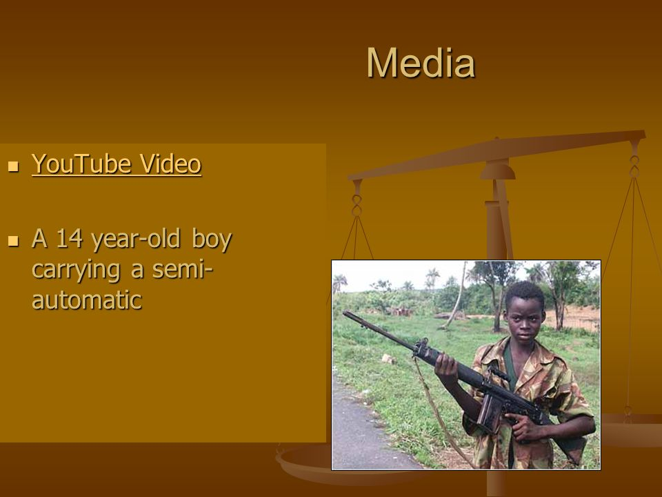 Media YouTube Video A 14 year-old boy carrying a semi-automatic