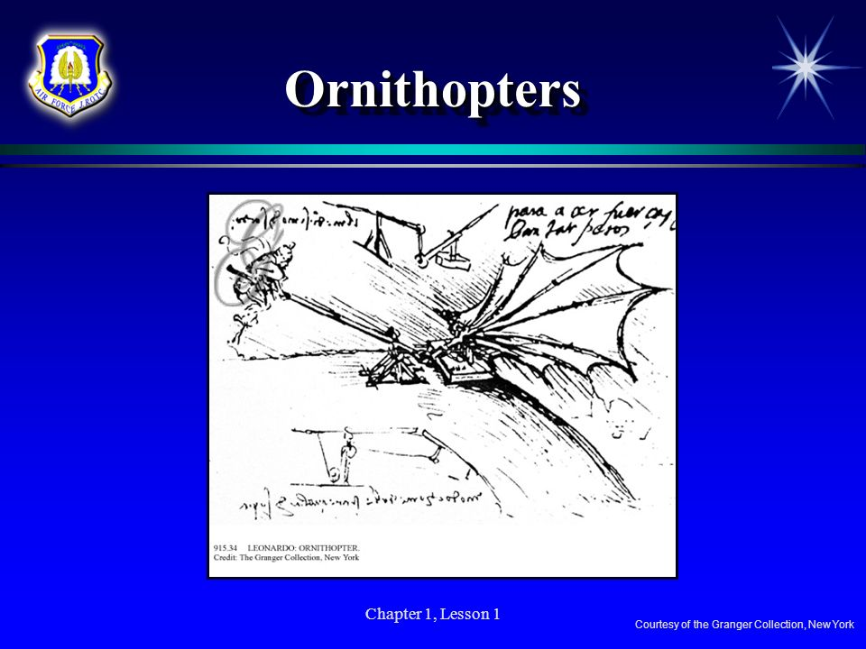 Ornithopters Chapter 1, Lesson 1