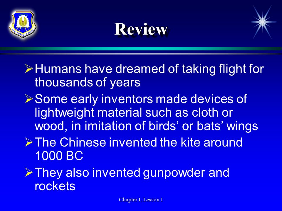 Review Humans have dreamed of taking flight for thousands of years