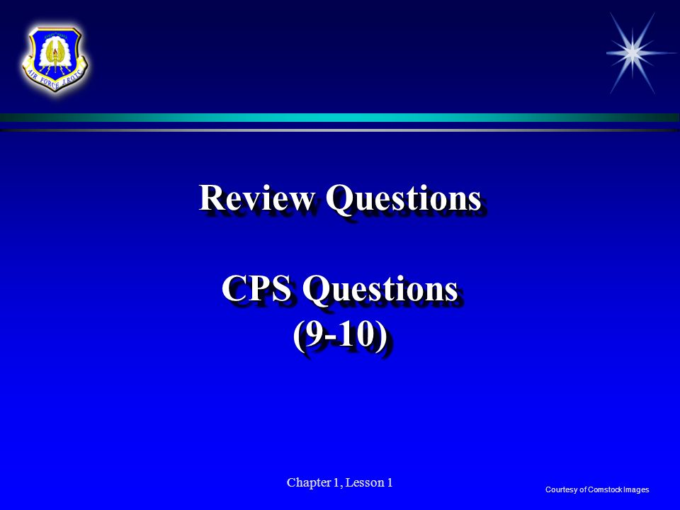 Review Questions CPS Questions (9-10)