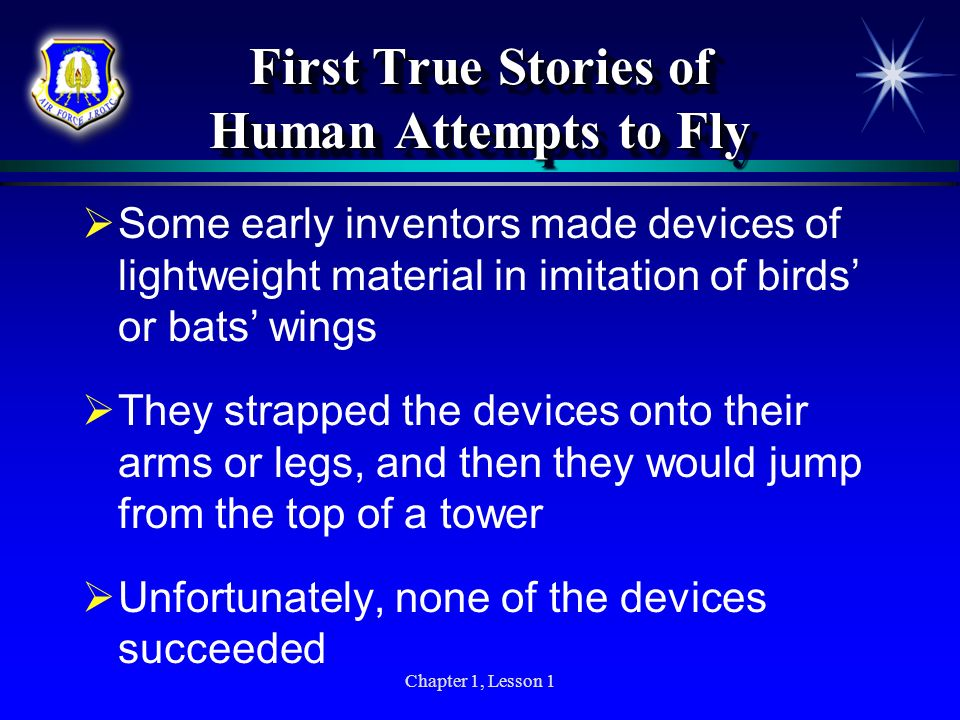 First True Stories of Human Attempts to Fly