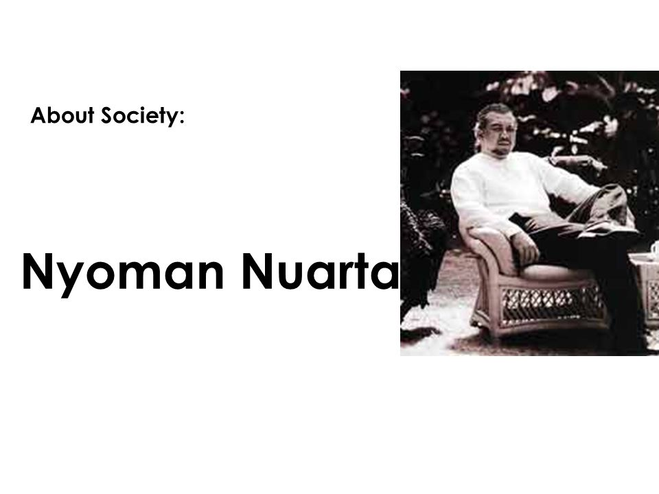 About Society: Nyoman Nuarta