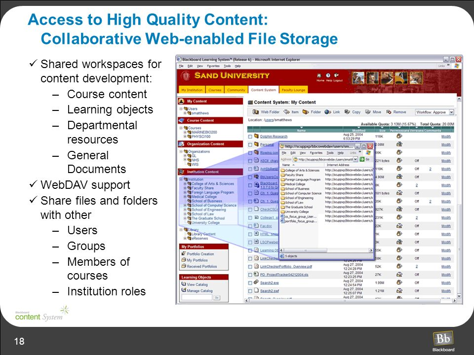 Access to High Quality Content: Collaborative Web-enabled File Storage