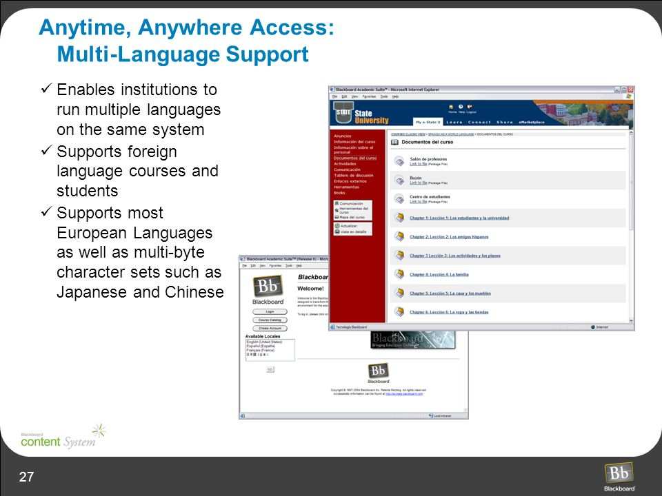 Anytime, Anywhere Access: Multi-Language Support