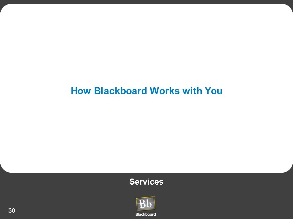 How Blackboard Works with You