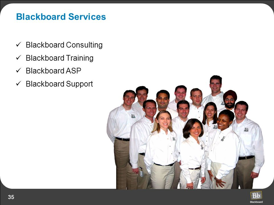 Blackboard Services Blackboard Consulting Blackboard Training