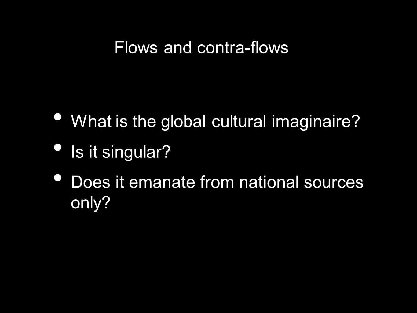 Flows and contra-flows