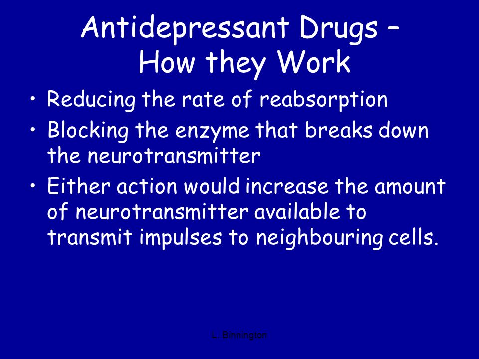 Antidepressant Drugs – How they Work