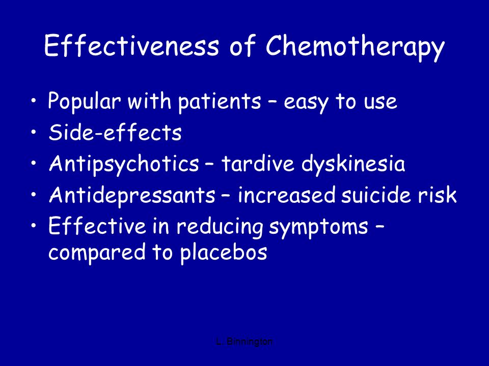 Effectiveness of Chemotherapy