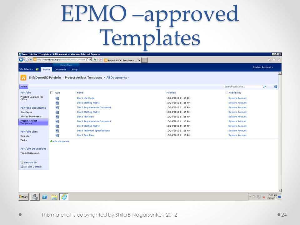 EPMO –approved Templates