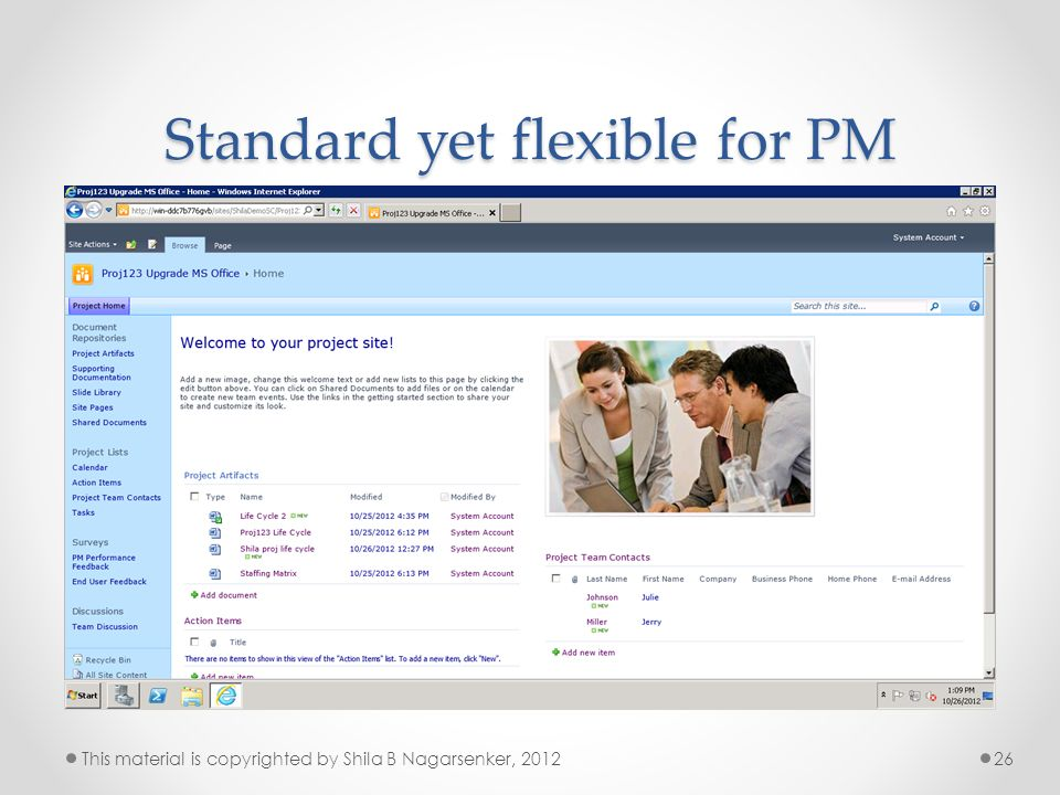 Standard yet flexible for PM