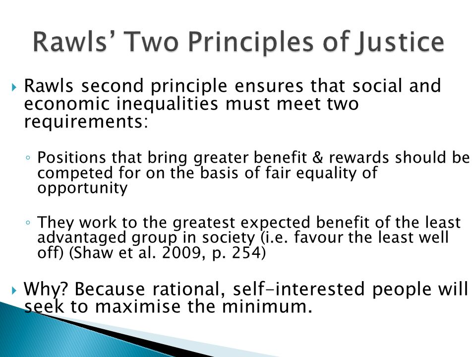 Rawls' Two Principles of Justice