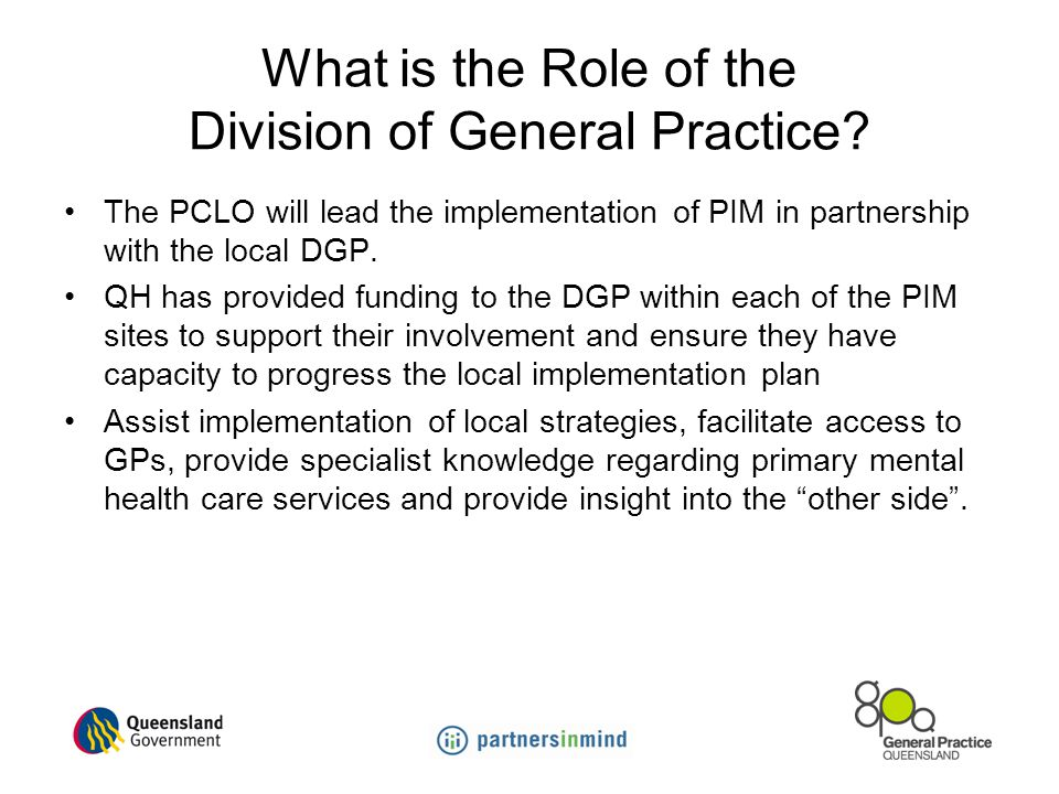 What is the Role of the Division of General Practice