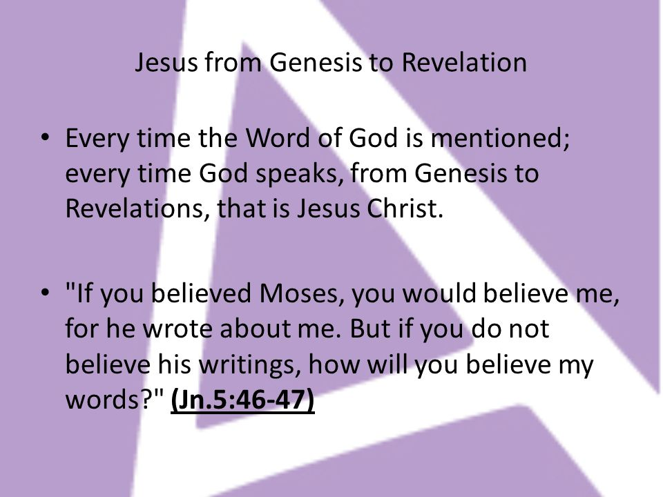Jesus from Genesis to Revelation