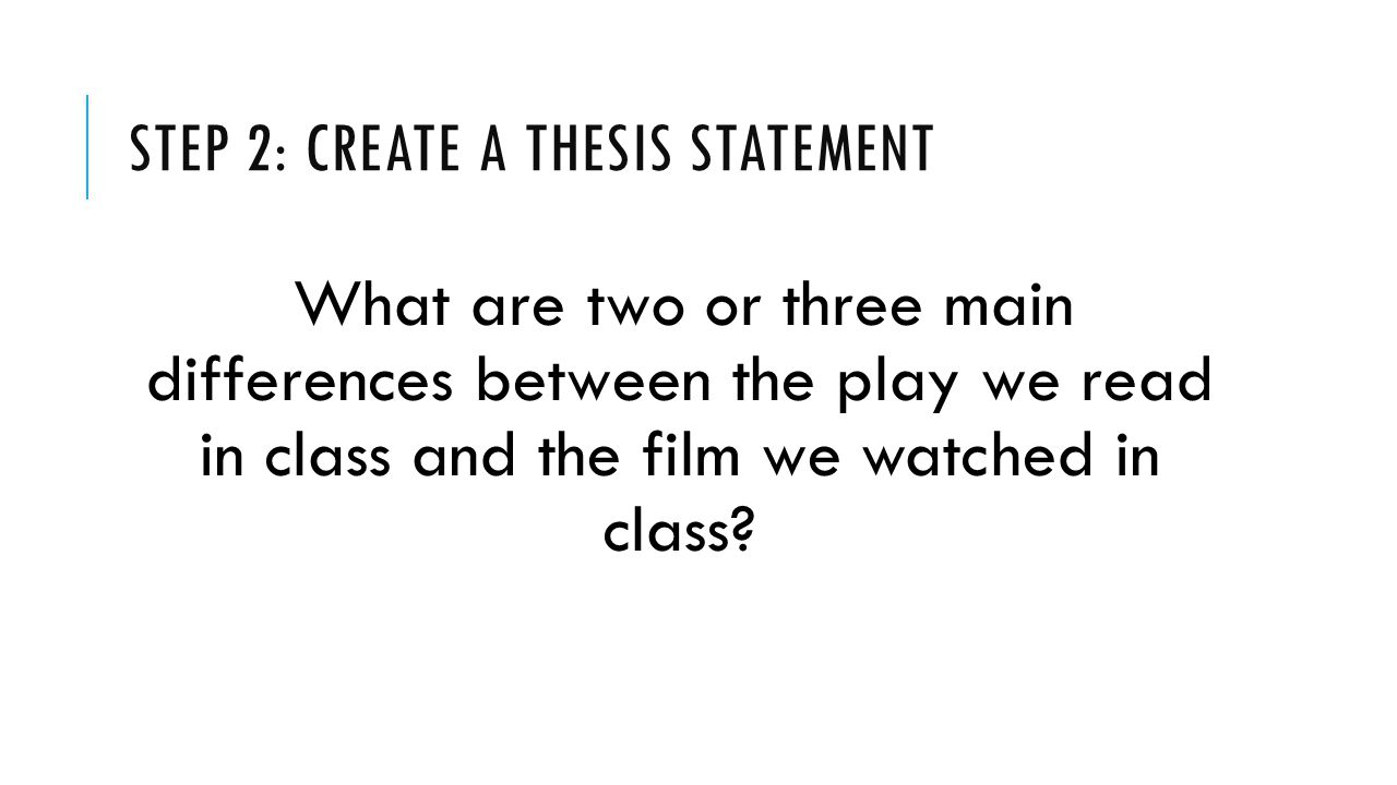 Step 2: create a thesis statement