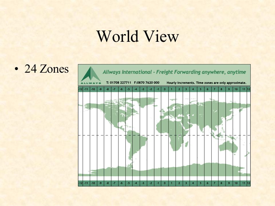 World View 24 Zones