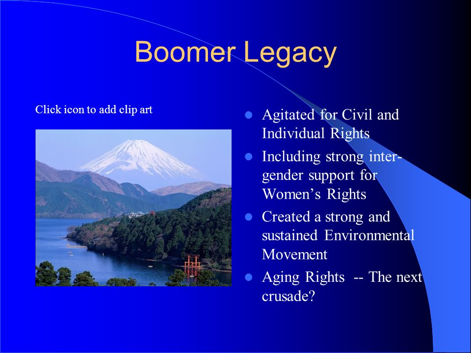 Boomer Legacy Agitated for Civil and Individual Rights
