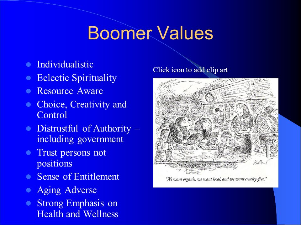 Boomer Values 3131 Individualistic Eclectic Spirituality