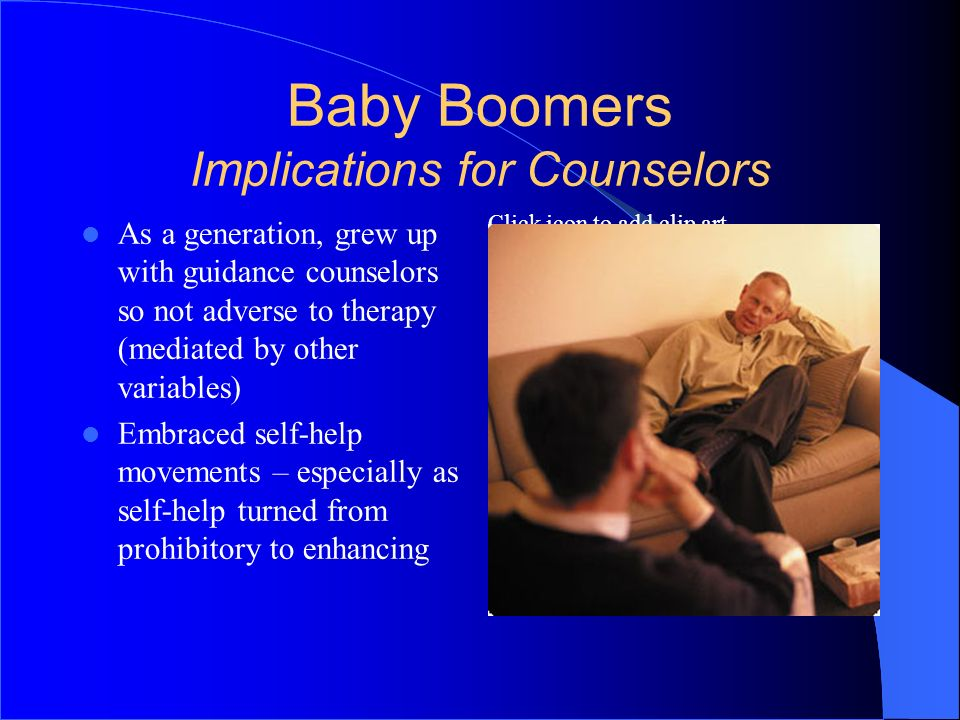 Baby Boomers Implications for Counselors