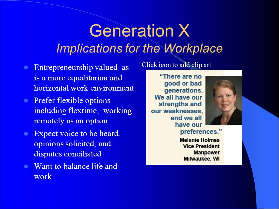 Generation X Implications for the Workplace