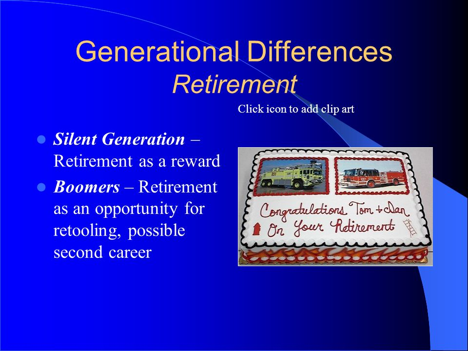 Generational Differences Retirement