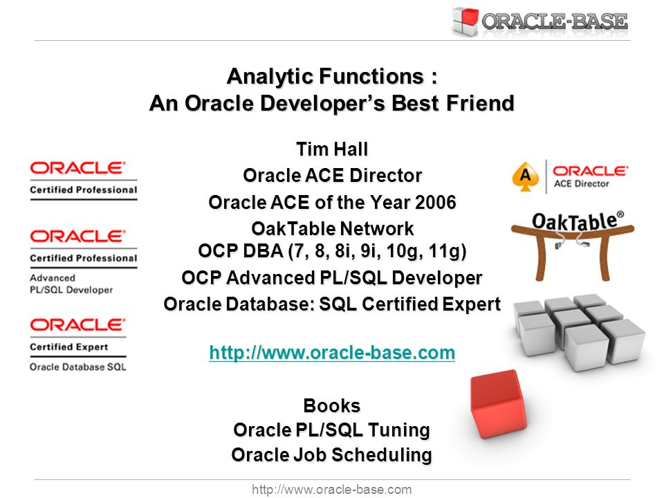 Analytic Functions : An Oracle Developer's Best Friend