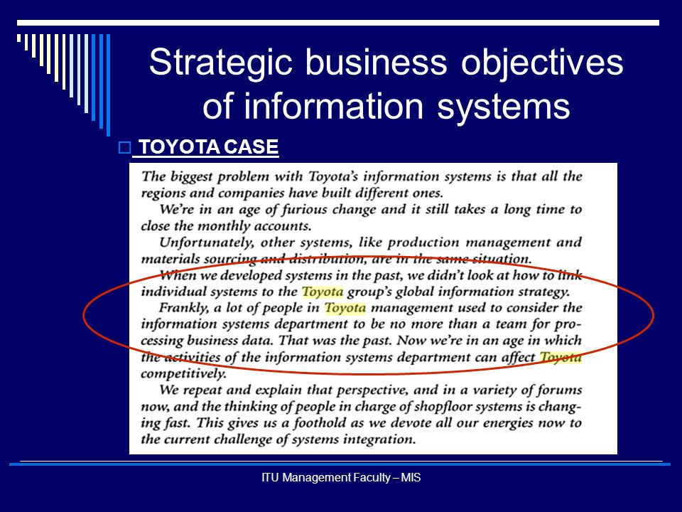strategic information systems Strategic information systems planning process is intended to ensure that technology activities are properly aligned with the evolving needs and strategies of the organization this paper will.