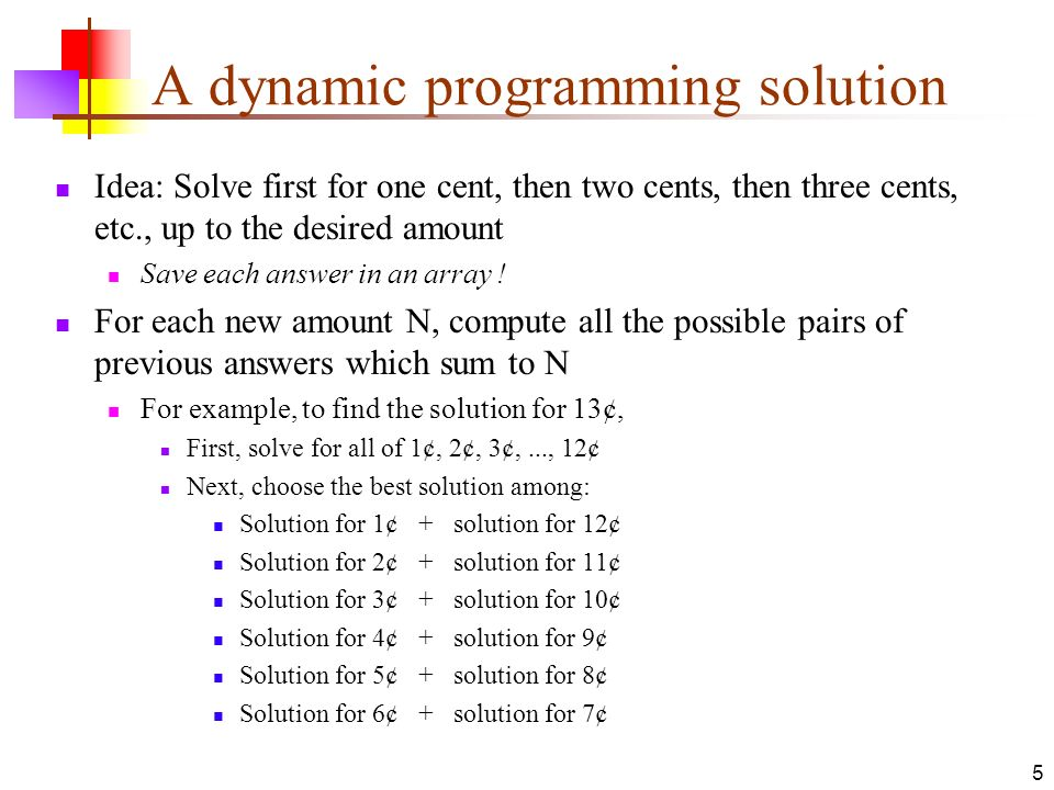 A dynamic programming solution