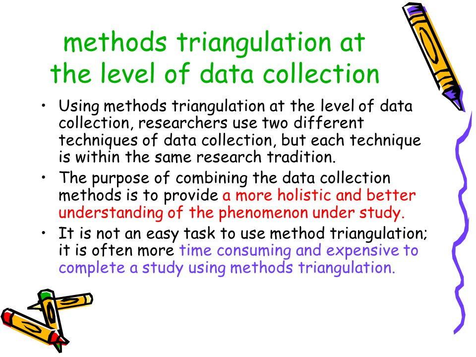 methods triangulation at the level of data collection