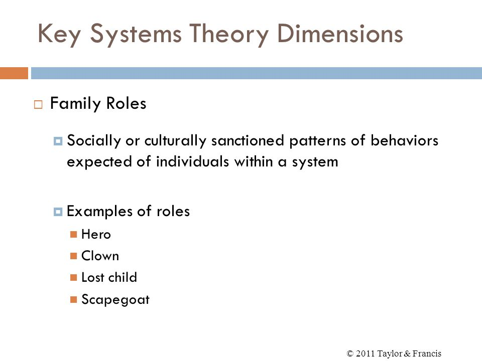 Key Systems Theory Dimensions