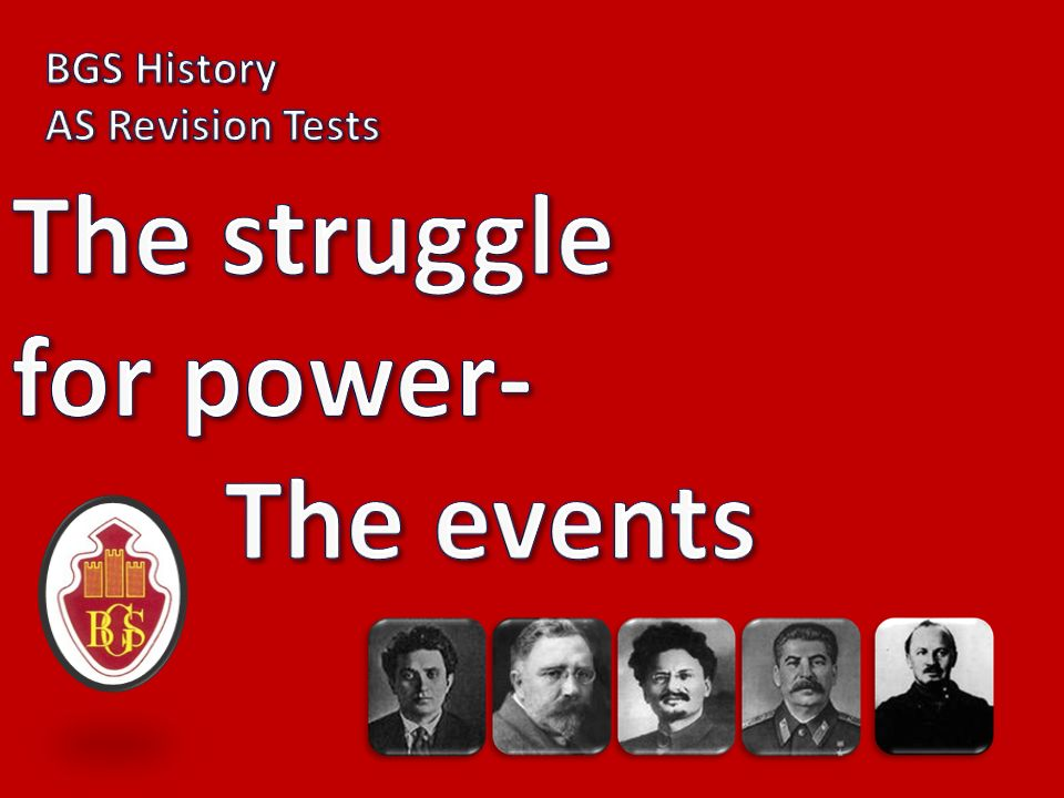 The struggle for power- The events
