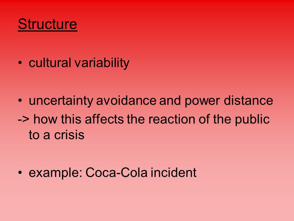 Structure cultural variability