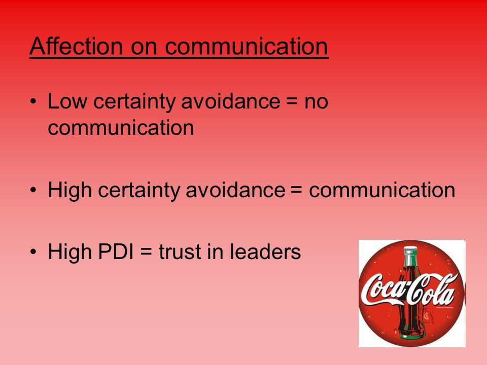 Affection on communication