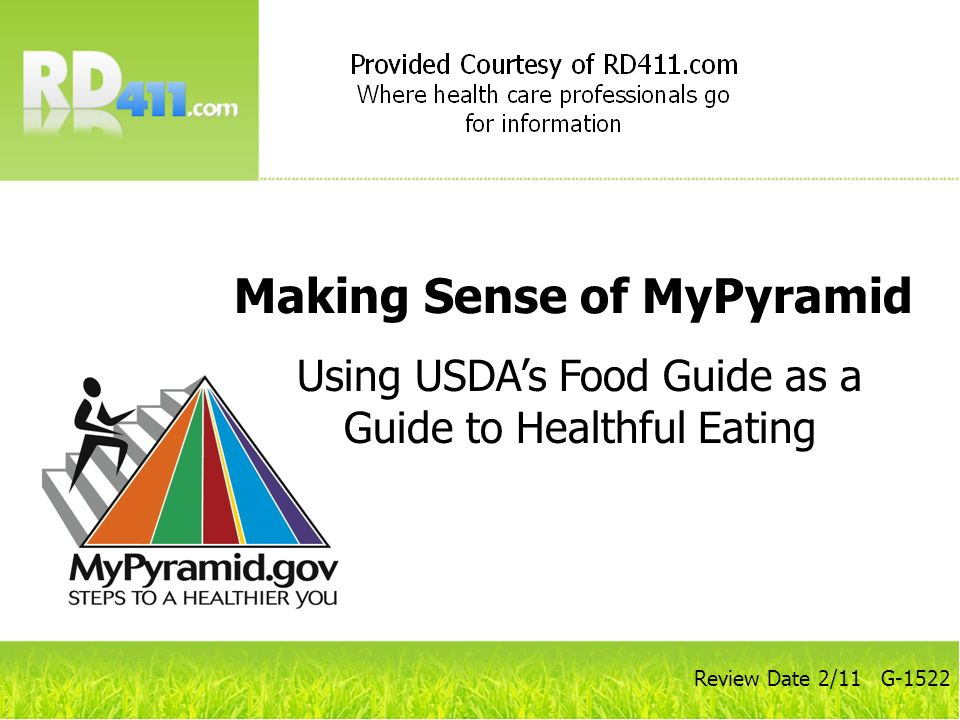Using USDA's Food Guide as a Guide to Healthful Eating